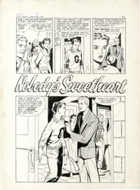 "Matt Baker and Vince Colletta (attributed) - First Love #89 Complete 5-page Story ""Nobody's Sweetheart"" Origin..."