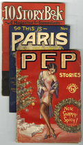 Pulps:Miscellaneous, Mixed Pulp Group (Miscellaneous Publishers, 1922-38). Includes Pep Stories December, 1928 (VG-); So This is Paris and ... (Total: 4 Comic Books)