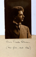 Autographs:Celebrities, Edwin Franko Goldman (1878-1956, American composer) Autograph. 3 x5 card signed by Goldman, with a dated reference for the ...