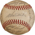 Autographs:Baseballs, 1972 Los Angeles Dodgers Team Signed Baseball. ...