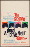 "Movie Posters:Rock and Roll, A Hard Day's Night (United Artists, 1964). Window Card (14"" X 22"").Rock and Roll.. ..."