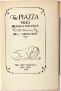 Books:Fine Press & Book Arts, [Elf Publishers]. Herman Melville. The Piazza Tales. NewYork: Elf Publishers, 1929. Limited to 750 copies, of which...