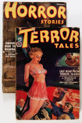 Pulps:Horror, Horror Tales/Terror Tales Group (Popular, 1935-38) Condition:Average GD/VG.... (Total: 2 Items)