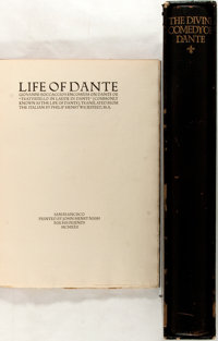 [Dante Alighieri]. Group of Two Fine Press Books Related to Dante. Includes Boccaccio's Life of Dante prin