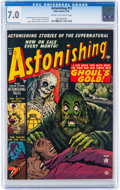 Golden Age (1938-1955):Horror, Astonishing #13 (Atlas, 1952) CGC FN/VF 7.0 Cream to off-whitepages....