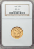 Liberty Half Eagles: , 1906-D $5 MS62 NGC. NGC Census: (893/1021). PCGS Population(629/909). Mintage: 320,000. Numismedia Wsl. Price for problem ...