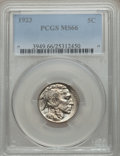Buffalo Nickels, 1923 5C MS66 PCGS....