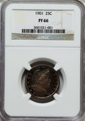 Proof Barber Quarters: , 1901 25C PR66 NGC. NGC Census: (29/31). PCGS Population (18/9). Mintage: 813. Numismedia Wsl. Price for problem free NGC/PC...
