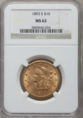 Liberty Eagles: , 1893-S $10 MS62 NGC. NGC Census: (147/19). PCGS Population (146/53). Mintage: 141,350. Numismedia Wsl. Price for problem fr...