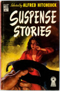 Books:Mystery & Detective Fiction, Selected by Alfred Hitchcock. Suspense Stories. New York:Dell Publishing, [1949]. Twelvemo. Original pictorial wrap...