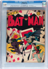 Batman #11 (DC, 1942) CGC GD/VG 3.0 Cream to off-white pages