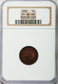 Proof Indian Cents: , 1881 1C PR64 Red and Brown NGC. NGC Census: (82/119). PCGS Population (180/112). Mintage: 3,575. Numismedia Wsl. Price for ...