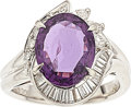 Estate Jewelry:Rings, Purple Sapphire, Diamond, Platinum Ring. ...