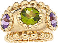 Estate Jewelry:Rings, Peridot, Amethyst, Gold Ring, Chanel. ...