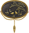Estate Jewelry:Brooches - Pins, Shakudo Brooch. ...