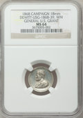 U.S. Presidents & Statesmen, 1868 General U.S. Grant Campaign Medal MS64 NGC.DeWitt-USG-1868-39. White metal, 18 mm....