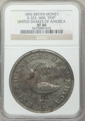 U.S. Presidents & Statesmen, 1896 Bryan Money, United Snakes of America, One Dam XF40 NGC. Z-53,S-353. White metal....