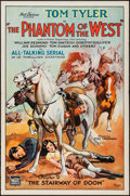 "Movie Posters:Serial, The Phantom of the West (Mascot, 1931). One Sheets (3) (27"" X 41"")Chapter 2 -- ""The Stairway of Doom,"" Chapter 5 -- ""The Le...(Total: 3 Items)"