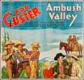 "Movie Posters:Western, Ambush Valley (Reliable, 1936). Six Sheet (80"" X 77""). Western.. ..."