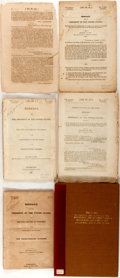 Books:Americana & American History, Group of Five Congressional Documents, Messages from the President,Andrew Jackson. Three documents from the twenty-second c...