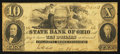 Obsoletes By State:Ohio, Chillicothe, OH- The State Bank of Ohio, Chillicothe Branch $10 May20, 1853 G228 Wolka 0359-33. ...