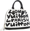 Luxury Accessories:Bags, Louis Vuitton 2001 Limited Edition Monogram Graffiti by StephenSprouse Black Alma MM Bag. ...