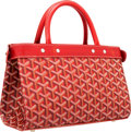 Luxury Accessories:Bags, Goyard Red Monogram Canvas Jersey Tote Bag. ...