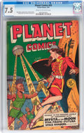 Golden Age (1938-1955):Science Fiction, Planet Comics #59 (Fiction House, 1949) CGC VF- 7.5 Cream tooff-white pages....