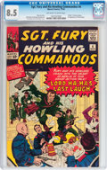 Silver Age (1956-1969):War, Sgt. Fury and His Howling Commandos #4 (Marvel, 1963) CGC VF+ 8.5 Off-white to white pages....