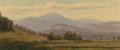 Paintings, AMERICAN SCHOOL (19th Century). Mt. Washington. Oil on canvas. 3-1/2 x 8-1/4 inches (8.9 x 21.0 cm). THE JEAN AND GRAH...