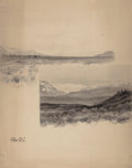 Fine Art - Work on Paper:Watercolor, WILLIAM CROTHERS FITLER (American, 1857-1900). Valley Scene,Central Alaska, circa 1892. Ink and wash on board. 27 x 21-...
