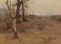 Fine Art - Painting, American:Antique  (Pre 1900), HERMAN HARTWICH (American, 1853-1926). Birches in the Fall.Oil on canvas. 19-1/2 x 27 inches (49.5 x 68.6 cm). Signed l...