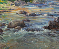 ROBERT HOGG NISBET (American, 1879-1961) Trout Stream Oil on canvas 25 x 30 inches (63.5 x 76.2 c