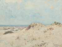 HENRY RANKIN POORE (American, 1859-1940) Groton Long Point Dunes Oil on panel 10-3/8 x 13-5/8 inc