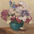 Paintings, MARGARET ALEXINA FULTON SPENCER (American, 1882-1966). Blue Bowl and Phlox. Oil on canvas. 14 x 14 inches (35.6 x 35.6 c...
