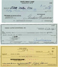Autographs:Checks, 1978-96 Baseball Greats Signed Checks With Joe DiMaggio, TedWilliams & Hank Aaron. ...