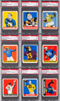 Football Cards:Lots, 1948 Leaf Football Collection (63) With 24 High Numbers. ...