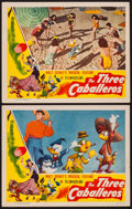 "Movie Posters:Animation, The Three Caballeros (RKO, 1945). Lobby Cards (2) (11"" X 14"").Animation.. ... (Total: 2 Items)"