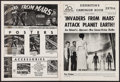 """Movie Posters:Science Fiction, Invaders from Mars (20th Century Fox, 1953). Uncut Pressbook (12 Pages, 11"""" X 15""""). Science Fiction.. ..."""