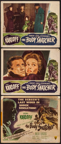 """Movie Posters:Horror, The Body Snatcher (RKO, 1945). Title Lobby Card & Lobby Cards (2) (11"""" X 14""""). Horror.. ... (Total: 3 Items)"""