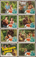 """Movie Posters:Adventure, Forbidden Jungle (Eagle Lion, 1950). Lobby Card Set of 8 (11"""" X14""""). Adventure.. ... (Total: 8 Items)"""