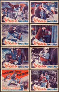 "Movie Posters:Adventure, Fangs of the Wild (Astor, R-1942). Lobby Card Set of 8 (11"" X 14"").Adventure.. ... (Total: 8 Items)"