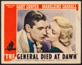 "Movie Posters:Adventure, The General Died at Dawn (Paramount, 1936). Lobby Card (11"" X 14"").Adventure.. ..."