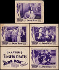 """Movie Posters:Crime, The Jade Box (Universal, 1930). Title Lobby Card & Lobby Cards (4) (11"""" X 14"""") Chapter 5 -- """"The Unseen Death!"""" Crime.. ... (Total: 5 Items)"""