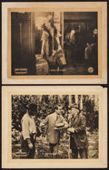 "Movie Posters:Adventure, He Comes Up Smiling & Other Lot (Artcraft, 1918). Lobby Cards(2) (11"" X 14""). Adventure.. ... (Total: 2 Items)"