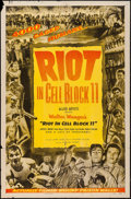 "Movie Posters:Drama, Riot in Cell Block 11 (Allied Artists, 1954). One Sheet (27"" X 41"") & Six Sheet (79.25"" X 76.75""). Drama.. ... (Total: 2 Items)"