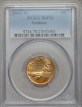 Modern Issues: , 1995-W G$5 Olympic/Stadium Gold Five Dollar MS70 PCGS. PCGSPopulation (184). NGC Census: (530). Numismedia Wsl. Price for...