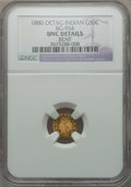California Fractional Gold: , 1880 50C Indian Octagonal 50 Cents, BG-954, Low R.4, -- Bent -- NGCDetails. Unc. NGC Census: (0/11). PCGS Population (3/10...