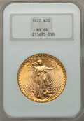 Saint-Gaudens Double Eagles: , 1927 $20 MS64 NGC. NGC Census: (51685/21706). PCGS Population(44768/31149). Mintage: 2,946,750. Numismedia Wsl. Price for ...