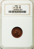 Proof Indian Cents: , 1884 1C PR66 Red and Brown NGC. NGC Census: (57/11). PCGS Population (51/16). Mintage: 3,942. Numismedia Wsl. Price for pro...